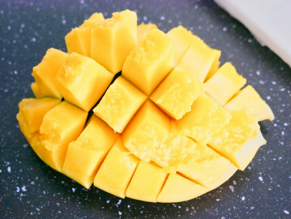 Mango cut up in to pieces