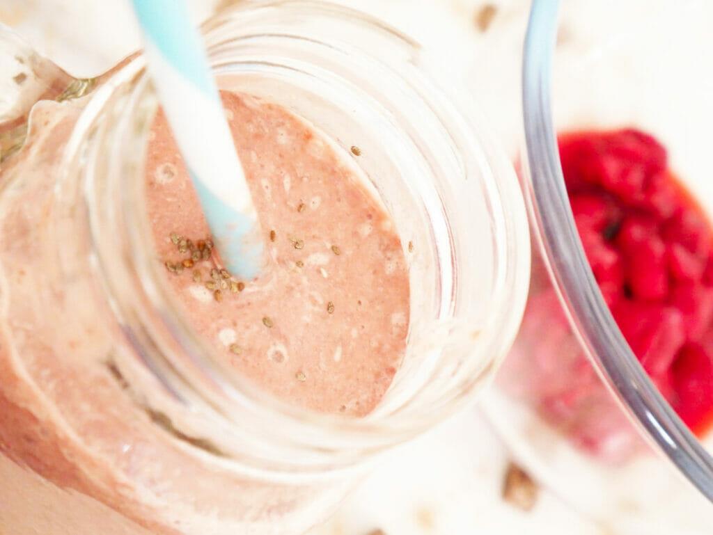 Chia seed protein shake