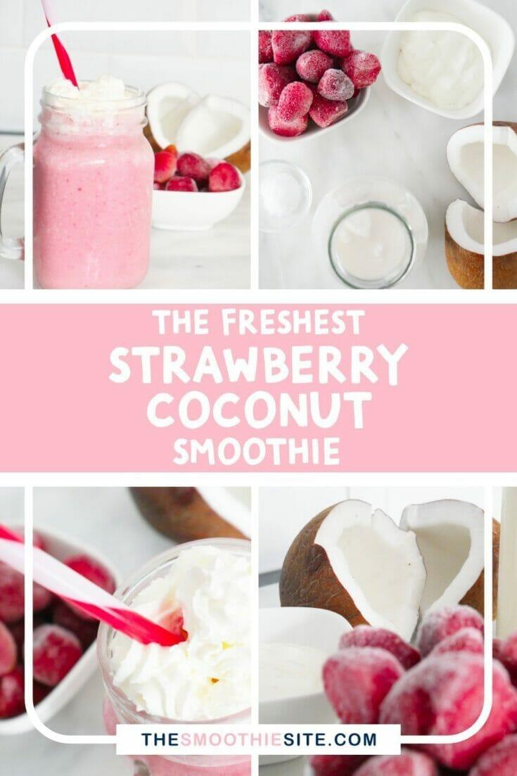The freshest strawberry coconut milk smoothie recipe