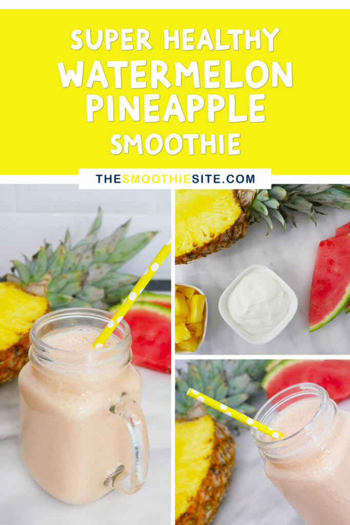 Healthy watermelon pineapple smoothie