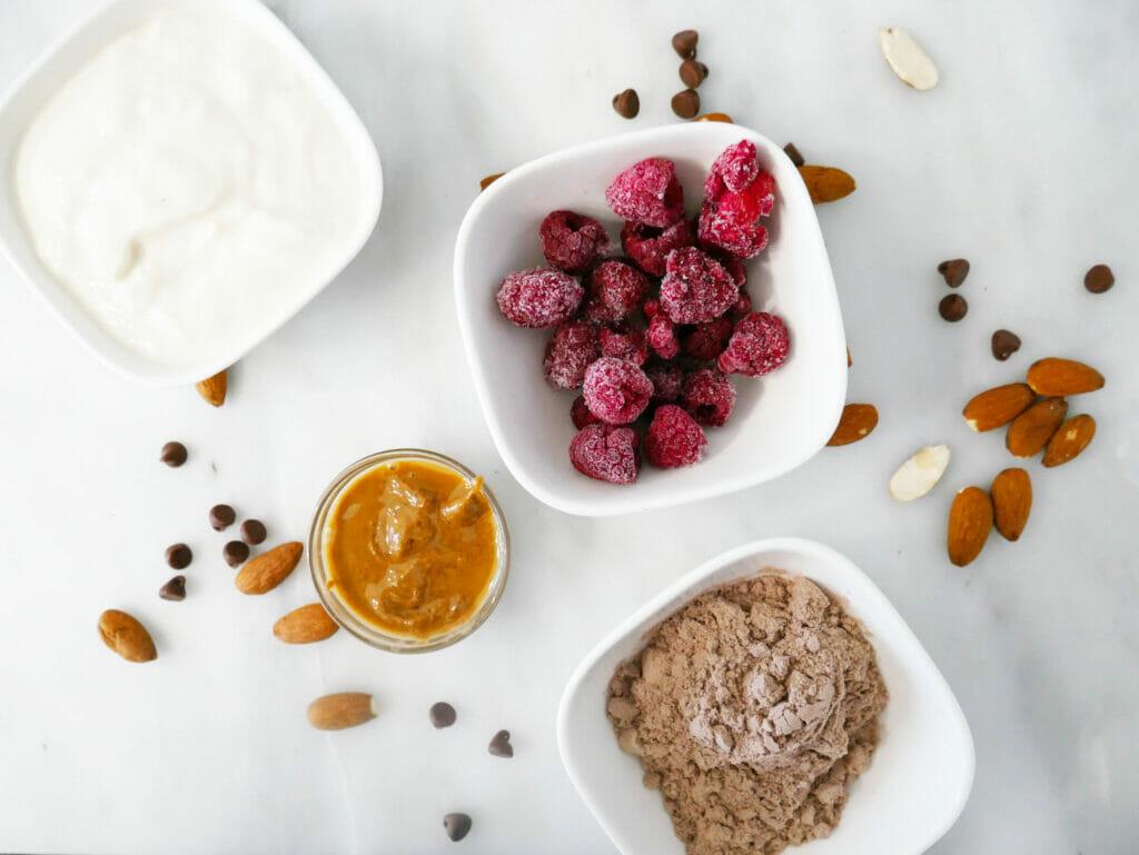 Coconut yogurt smoothie ingredients