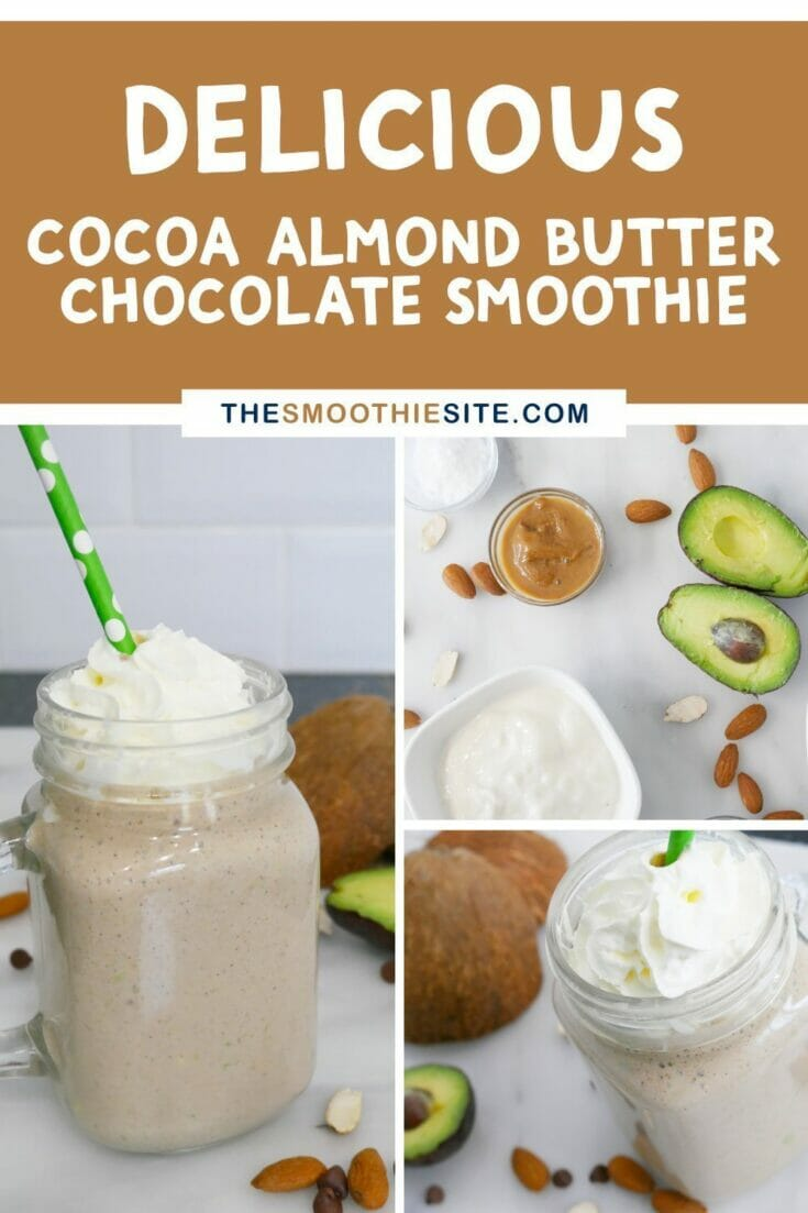 Delicious cocoa almond butter chocolate smoothie Fat Bomb Secret Ingredients
